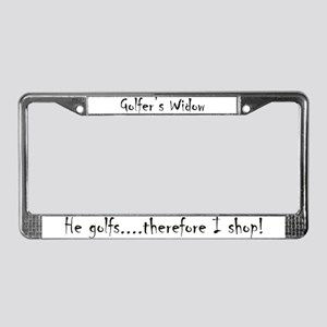 Golfer's Widow License Plate Frame