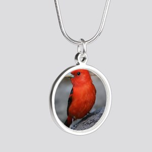 Tanager Silver Round Necklace