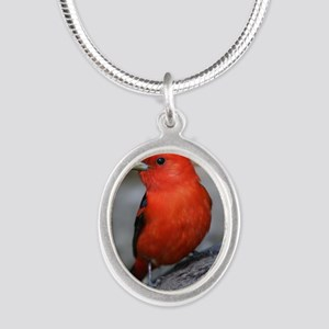 Tanager Silver Oval Necklace