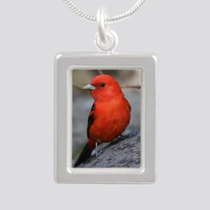 Tanager Silver Portrait Necklace