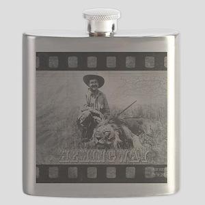 Ernest Hemingway and Lion Flask