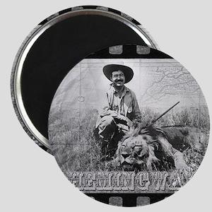Ernest Hemingway and Lion Magnet