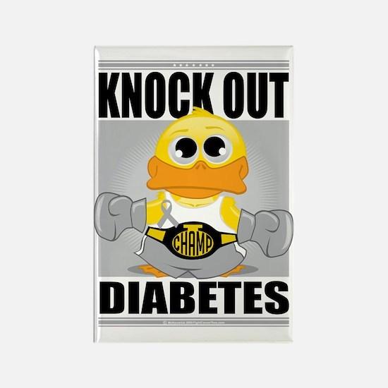 Knock-Out-Diabetes Rectangle Magnet