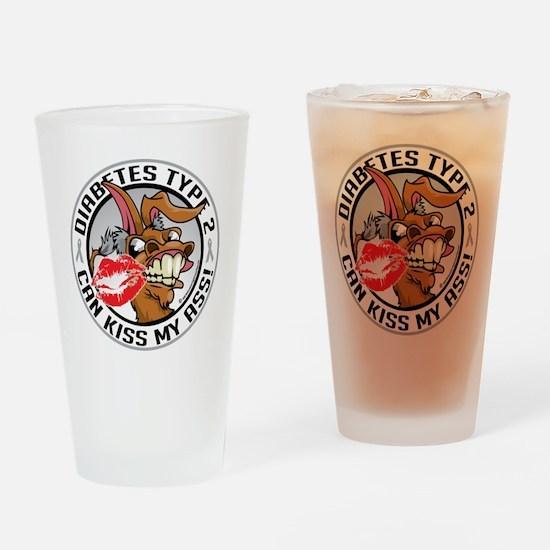 Diabetes-Type-2-Kiss-My-Ass Drinking Glass