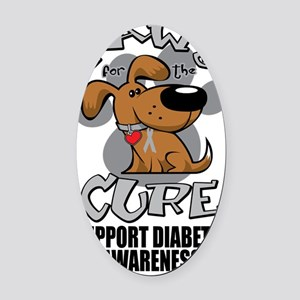 Paws-for-the-Diabetes-Cancer Oval Car Magnet