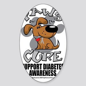 Paws-for-the-Diabetes-Cancer Sticker (Oval)