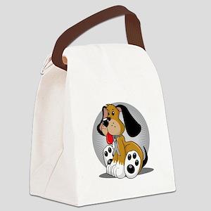 Diabetes-Dog-blk Canvas Lunch Bag