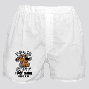 Paws-for-the-Diabetes-Cancer Boxer Shorts
