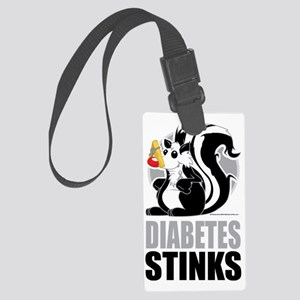 Diabetes-Stinks Large Luggage Tag