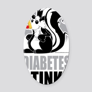 Diabetes-Stinks Oval Car Magnet