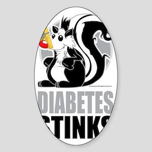 Diabetes-Stinks Sticker (Oval)