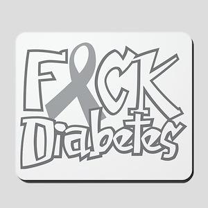 Fuck-Diabetes-blk Mousepad