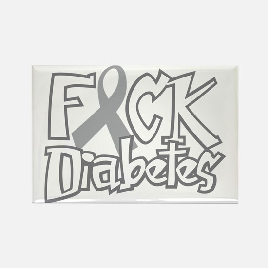 Fuck-Diabetes-blk Rectangle Magnet