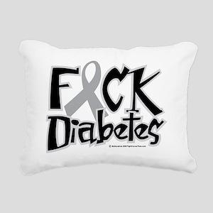 Fuck-Diabetes Rectangular Canvas Pillow