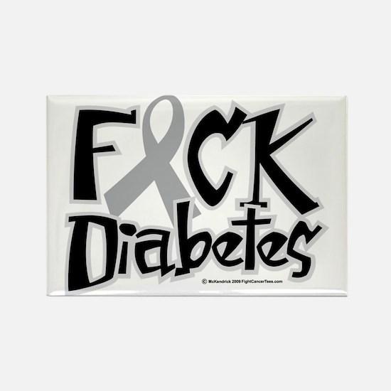 Fuck-Diabetes Rectangle Magnet