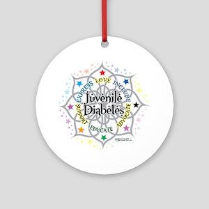 Juvenile-Diabetes-Lotus Round Ornament