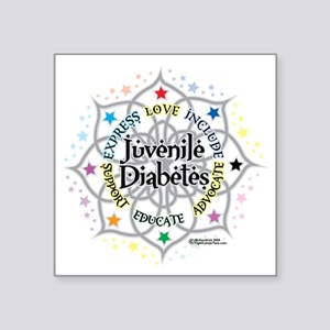"Juvenile-Diabetes-Lotus Square Sticker 3"" x 3"""