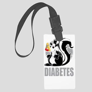 Diabetes-Stinks-blk Large Luggage Tag