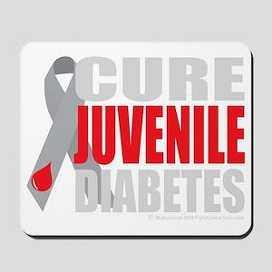 Cure-Juvenile-Diabetes-2-blk Mousepad