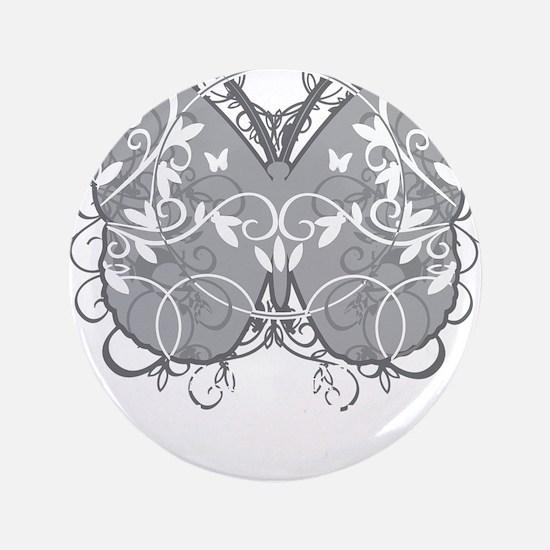 "Diabetes-Butterfly-blk 3.5"" Button"