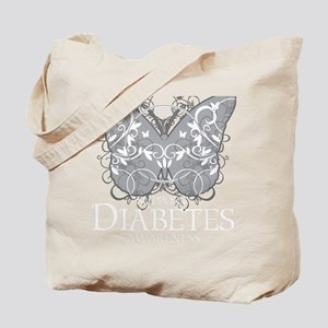 Diabetes-Butterfly-blk Tote Bag