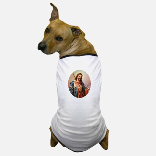 Jesus - Shepherd with Lamb Dog T-Shirt