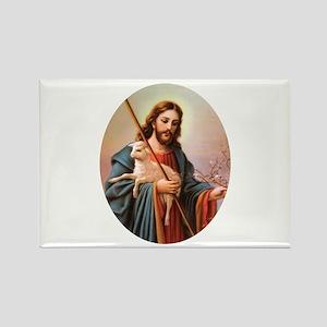 Jesus - Shepherd with Lamb Rectangle Magnet