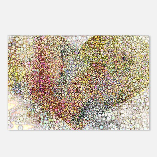 heart particles Postcards (Package of 8)
