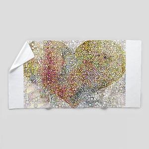 heart particles Beach Towel