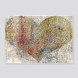 heart particles 5'x7'Area Rug
