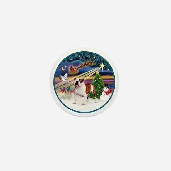 Xmas Magic (R) - English Bulldog 5 Mini Button