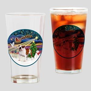 Xmas Magic (R) - English Bulldog 5 Drinking Glass