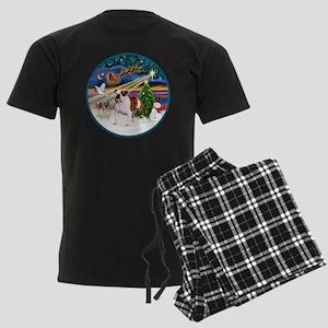 Xmas Magic (R) - English Bulld Men's Dark Pajamas