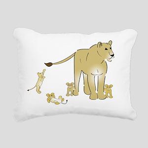 Lionwcubslight Rectangular Canvas Pillow