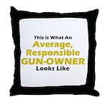 Gun-Owner Throw Pillow
