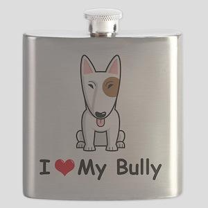 I-Love-My-Bully-dog Flask