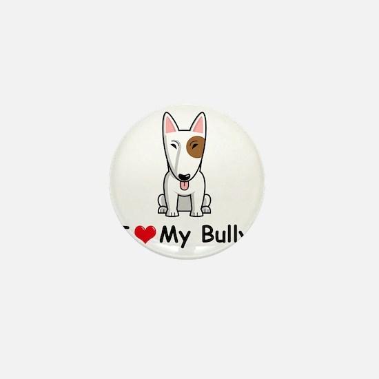 I-Love-My-Bully-dog Mini Button