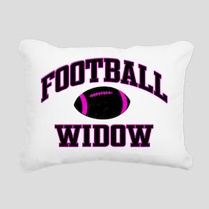 FootBall Pink Black Rectangular Canvas Pillow
