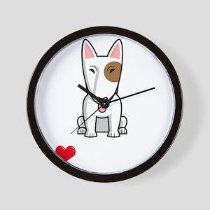 I-Love-My-Bully-dog-dark Wall Clock