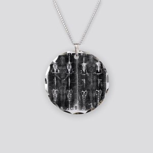 Shroud of Turin - Full Lengt Necklace Circle Charm