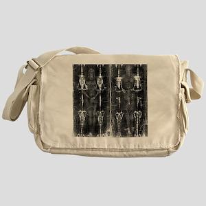 Shroud of Turin - Full Length Negati Messenger Bag