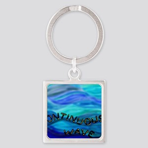 continuous wave BMP Square Keychain