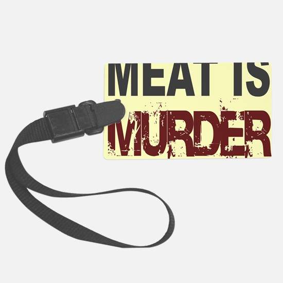 Meat Is Murder-yellow square Luggage Tag