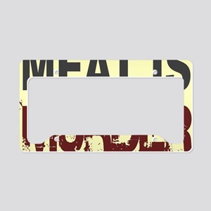 Meat Is Murder-yellow square License Plate Holder