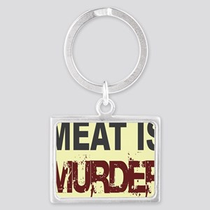 Meat Is Murder-yellow square Landscape Keychain