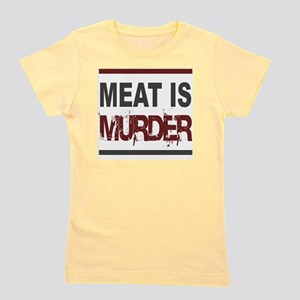 Meat Is Murder squarer-2 Girl's Tee