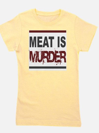 Meat Is Murder squarer-2 Girl's Tee