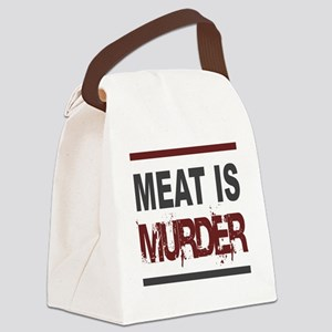 Meat Is Murder squarer-2 Canvas Lunch Bag