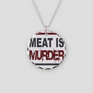 Meat Is Murder squarer-2 Necklace Circle Charm