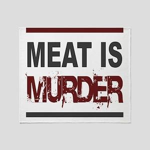 Meat Is Murder squarer-2 Throw Blanket